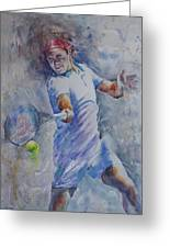 Roger Federer - Portrait 8 Greeting Card