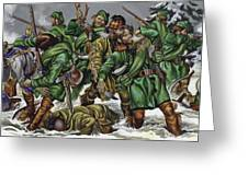 Rogers Rangers Fought A Hand-to-hand Battle In The Snow With The French And Indians Greeting Card