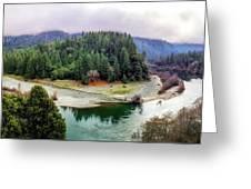 Rogue River Bend Pano Greeting Card
