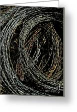 Rolled Barbed Wire-signed-#1936 Greeting Card