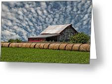 Rolled Up - Hay Rolls And Barn Greeting Card