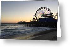 Roller Coaster Beach Greeting Card