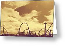 Roller Coaster Rides Greeting Card