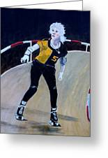 Roller Derby Queen Greeting Card