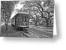 Rollin' Thru New Orleans 2 Bw Greeting Card