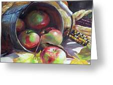 Rolling Apples Greeting Card