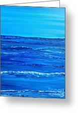 Rolling Blue, Triptych 2 Of 3 Greeting Card
