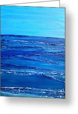 Rolling Blue, Triptych 3 Of 3 Greeting Card