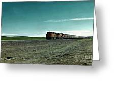 Rolling Freight Train Greeting Card