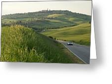 Rolling Hills Cradle A Winding Road Greeting Card