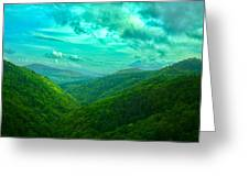 Rolling Hills Of Italy Greeting Card