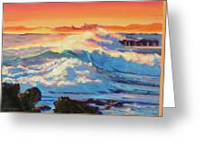 Rolling Ocean Surf - Plein Air Greeting Card