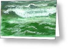 Rolling Ocean Waves Greeting Card