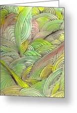 Rolling Patterns In Greens Greeting Card
