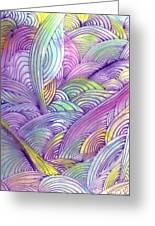 Rolling Patterns In Pastel Greeting Card