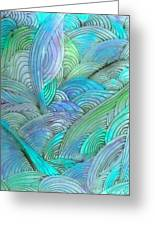 Rolling Patterns In Teal Greeting Card