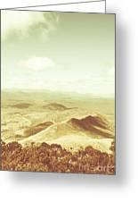 Rolling Rural Hills Of Zeehan Greeting Card