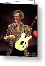 Rolling Stones Keith Richards Painting Greeting Card