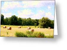 Rolling The Hay Greeting Card