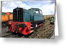Rolls Royce Sentinel Dl83 Diesel Shunter At The Nene Valley Railway Greeting Card