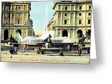 Roma 1900 Piazza Di Termini Greeting Card