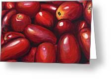 Roma Tomatoes Greeting Card by Patty Vicknair