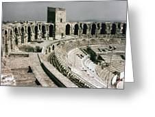 Roman Amphitheatre, Arles Greeting Card