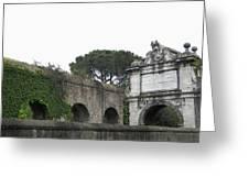 Roman Aqueduct Greeting Card