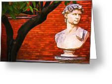 Roman Bust, Loyola University Chicago Greeting Card