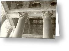 Roman Columns Greeting Card