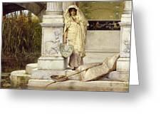 Roman Fisher Girl Greeting Card
