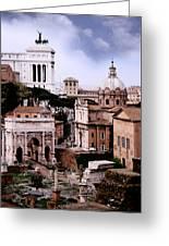 Roman Forum Greeting Card by Warren Home Decor