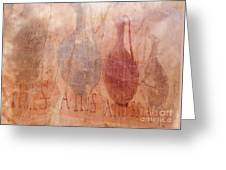 Roman Fresco Of Drink Pitchers, Herculaneum, Italy Greeting Card