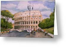 Roman Holiday- Colosseum Greeting Card
