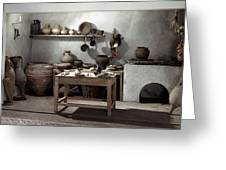 Roman Kitchen, 100 A.d Greeting Card
