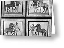 Roman Mosaic: Charioteers Greeting Card