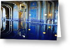 Roman Pool Hearst Castle Greeting Card