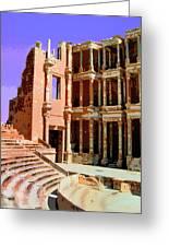 Roman Ruins At Sabrayha Greeting Card