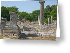 Roman Ruins Near St. Remy In Provence Greeting Card