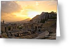 Roman Theater In Taormina IIi Greeting Card
