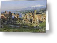 Roman Theatre Greeting Card