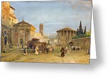 Roman Veduta Greeting Card