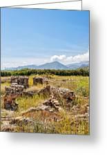 Roman Villa Ruins On Crete Greeting Card