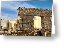 Roman Wall In Cadiz Spain Greeting Card