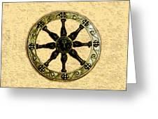 Roman Wheel Greeting Card