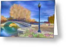 Romance At Elizabeth Park Bridge Greeting Card