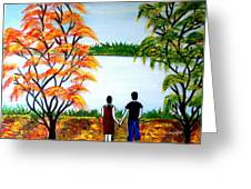 Romance In Autumn Greeting Card