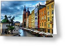 Romance In Krakow Greeting Card