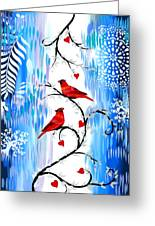 Romance In The Snow Greeting Card