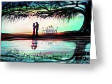 Romance Under The Oaks Greeting Card